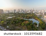 scenic view of the lumpini ... | Shutterstock . vector #1013595682