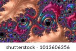 abstract computer generated... | Shutterstock . vector #1013606356
