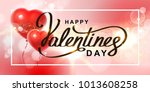 happy valentine's day. red air... | Shutterstock . vector #1013608258