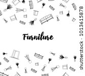 vector background. furniture... | Shutterstock .eps vector #1013615878