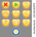 vector set of gameplay buttons...