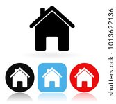 home icon. colored icons with... | Shutterstock .eps vector #1013622136