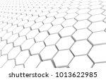 duo tone hexagon 3d background... | Shutterstock . vector #1013622985