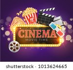 cinema movie vector poster... | Shutterstock .eps vector #1013624665