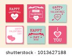 set of creative greeting cards. ... | Shutterstock .eps vector #1013627188