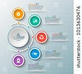 vector abstract 3d paper...   Shutterstock .eps vector #1013630476