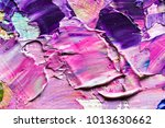 oil paints mixed on canvas ... | Shutterstock . vector #1013630662