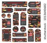 sushi bar or japanese asian... | Shutterstock .eps vector #1013640682