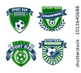 soccer club championship icons... | Shutterstock .eps vector #1013640688