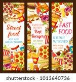 fast food burgers restaurant or ... | Shutterstock .eps vector #1013640736