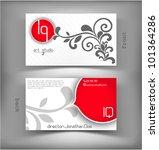 business card | Shutterstock .eps vector #101364286
