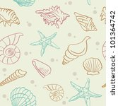 seamless pattern from shells | Shutterstock .eps vector #101364742