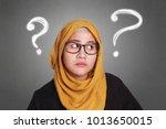 portrait of muslim...   Shutterstock . vector #1013650015