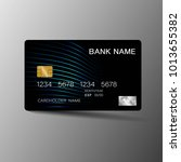 modern credit card template... | Shutterstock .eps vector #1013655382