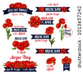 anzac day memorial day icons... | Shutterstock .eps vector #1013657242