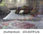businessman check seriously... | Shutterstock . vector #1013659126