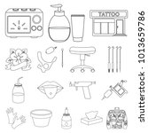 tattoo  drawing on the body... | Shutterstock . vector #1013659786