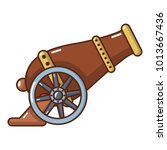 automatic gun icon. cartoon... | Shutterstock .eps vector #1013667436