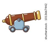 cannon icon. cartoon... | Shutterstock .eps vector #1013667442