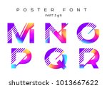 vector colorful typeset. blue ... | Shutterstock .eps vector #1013667622