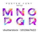 vector colorful typeset. blue ... | Shutterstock .eps vector #1013667622