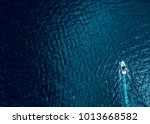 Aerial Of Boat On Water