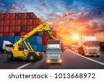 logistics and transportation of ... | Shutterstock . vector #1013668972