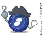 pirate status coin character... | Shutterstock .eps vector #1013671972