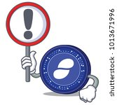 with sign status coin character ... | Shutterstock .eps vector #1013671996
