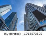 low angle view of skyscrapers... | Shutterstock . vector #1013673802