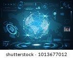 abstract technology ui... | Shutterstock .eps vector #1013677012