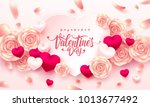 valentine hearts with... | Shutterstock .eps vector #1013677492