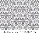 ornament with elements of gray... | Shutterstock . vector #1013683135