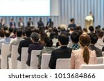 rear view of audience in the... | Shutterstock . vector #1013684866