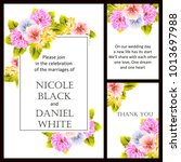romantic invitation. wedding ... | Shutterstock . vector #1013697988