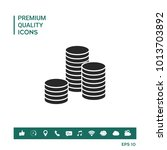 stack of coins icon | Shutterstock .eps vector #1013703892