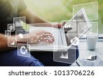 business analytics concept | Shutterstock . vector #1013706226