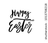 happy easter card with... | Shutterstock .eps vector #1013708218
