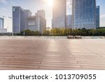 empty floor with modern... | Shutterstock . vector #1013709055
