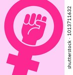 symbol for female combined with ... | Shutterstock .eps vector #1013711632
