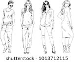 vector drawings on the theme of ... | Shutterstock .eps vector #1013712115