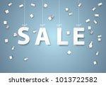 sale mobile hanging on sky ... | Shutterstock .eps vector #1013722582