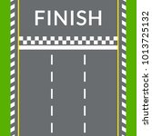 finish line on the rally track...   Shutterstock .eps vector #1013725132
