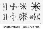 futhark norse islandic and... | Shutterstock .eps vector #1013725786