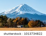 pictures of fuji volcano in the ... | Shutterstock . vector #1013734822
