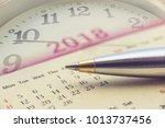 calendar planner for year 2018... | Shutterstock . vector #1013737456