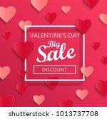 valentine's day big sale banner ... | Shutterstock . vector #1013737708