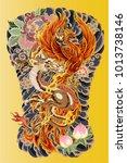 japanese tattoo design full... | Shutterstock .eps vector #1013738146