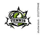 swoosh tennis logo   Shutterstock .eps vector #1013739448