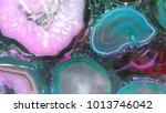 blue pink rocks | Shutterstock . vector #1013746042